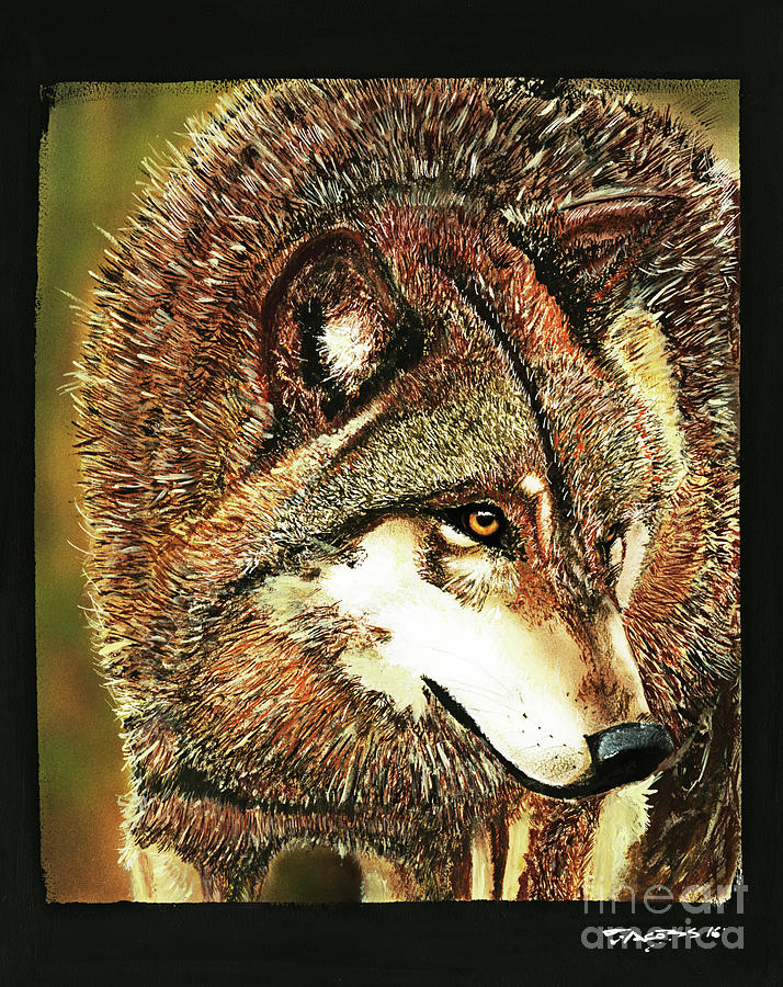 Wolf Painting - On Patrol by Kevin Scott Jacobs