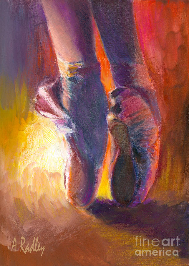 Dance Painting - On Pointe At Sunrise by Ann Radley
