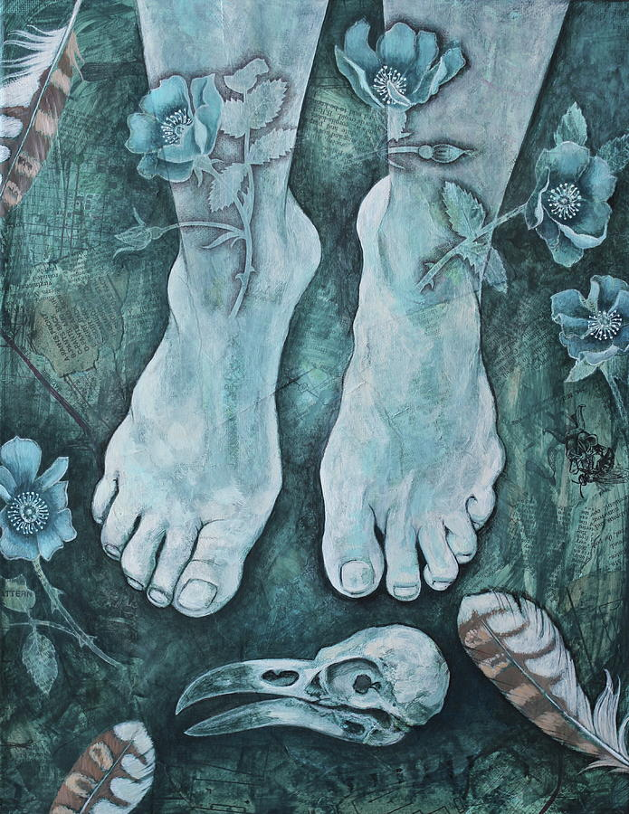 Feet Mixed Media - On Sacred Ground by Sheri Howe