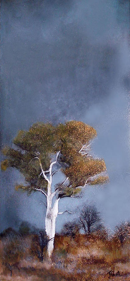 African Landscape Painting - On Safari - African Tree by Carrie Jackson