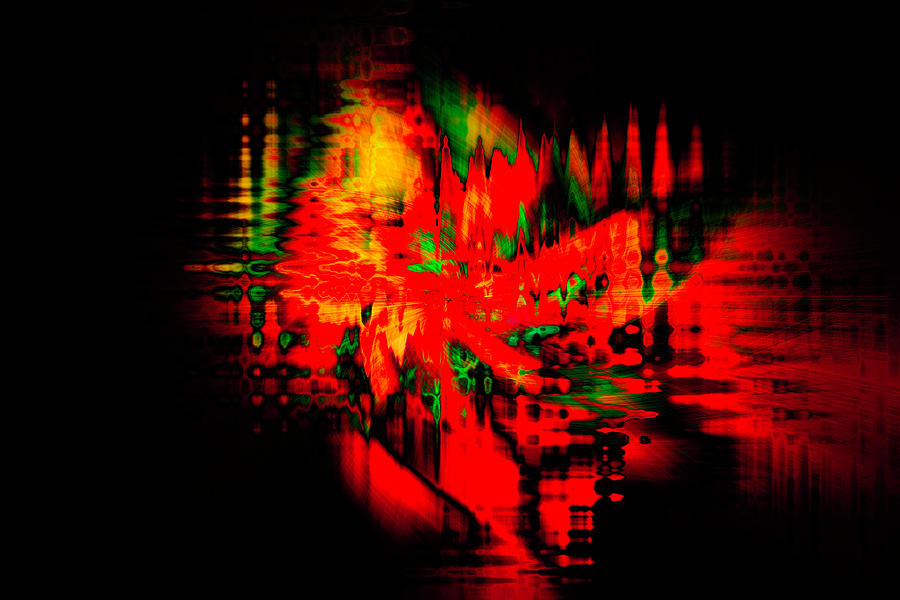 Abstract Photograph - On Scarlet Pond by Cathy Donohoue