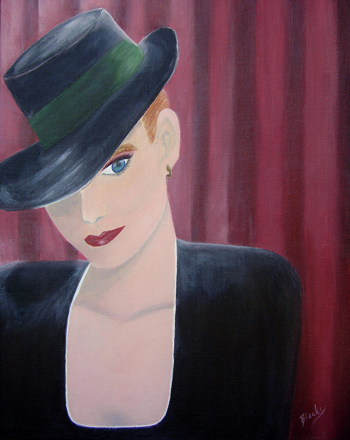 Woman Painting - On Stage by Donna Blackhall