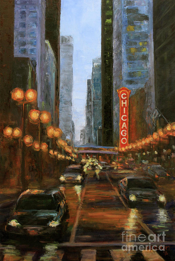 Chicago Painting - On State Street by Elizabeth Roskam