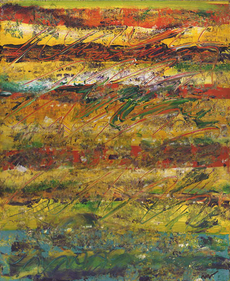 Abstract Painting - On Stripe For Diana by Wayne Potrafka