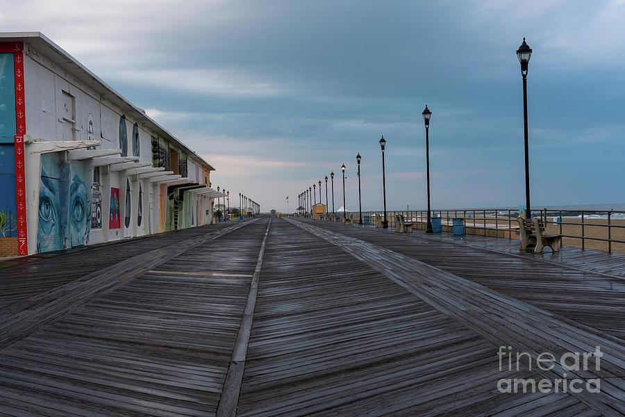 Asbury Park Photograph - On The Asbury Park Boardwalk  by Joe Benning