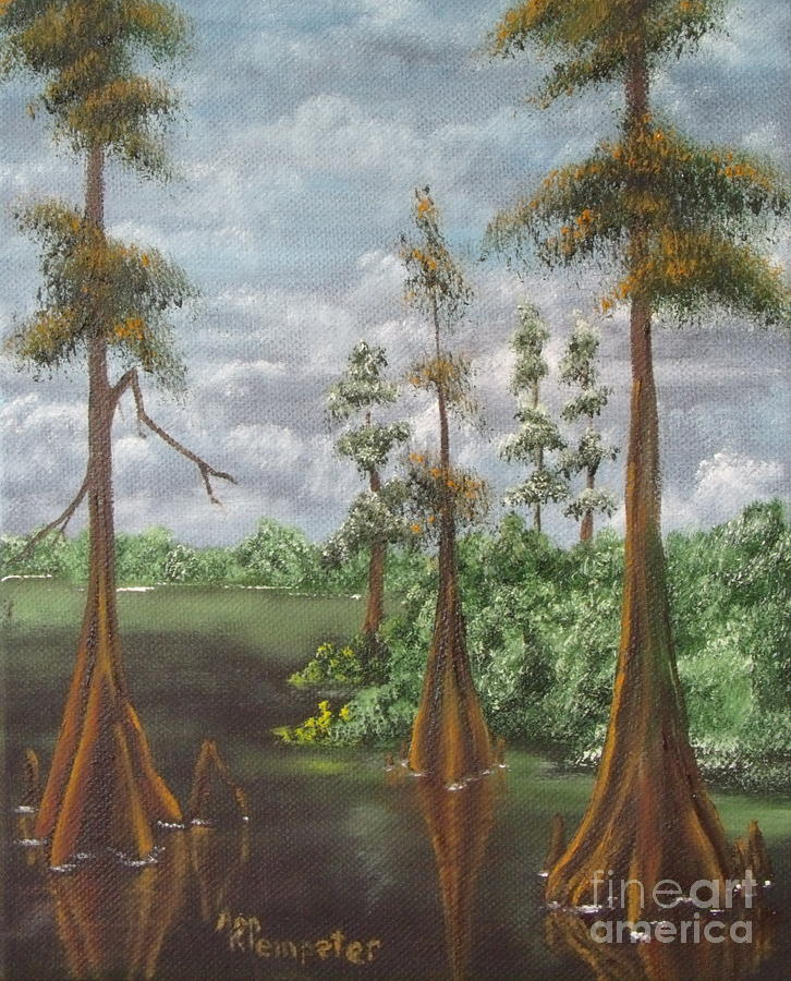 Bayou Painting - On The Bayou 2 by Ann Kleinpeter