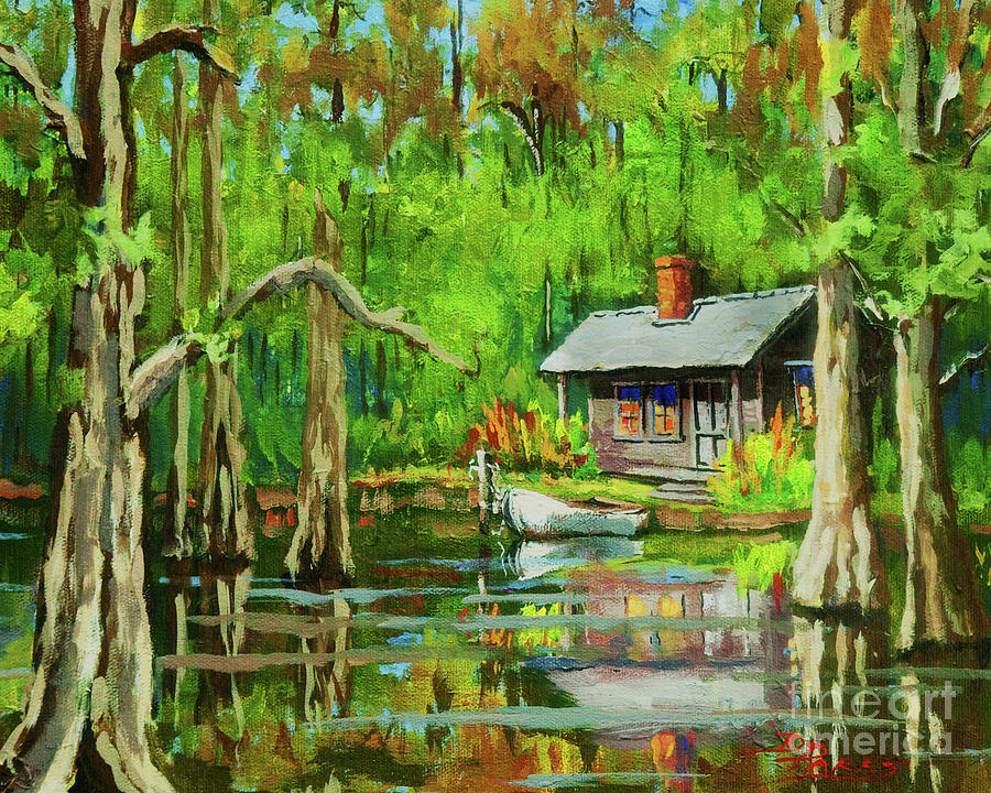 Bayou Painting - On The Bayou by Dianne Parks
