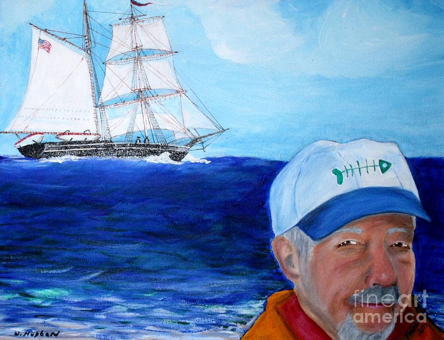 Nautical Painting - On The Beach by Bill Hubbard