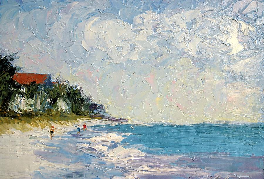 Seascape Painting - On the Beach  by Colleen Murphy