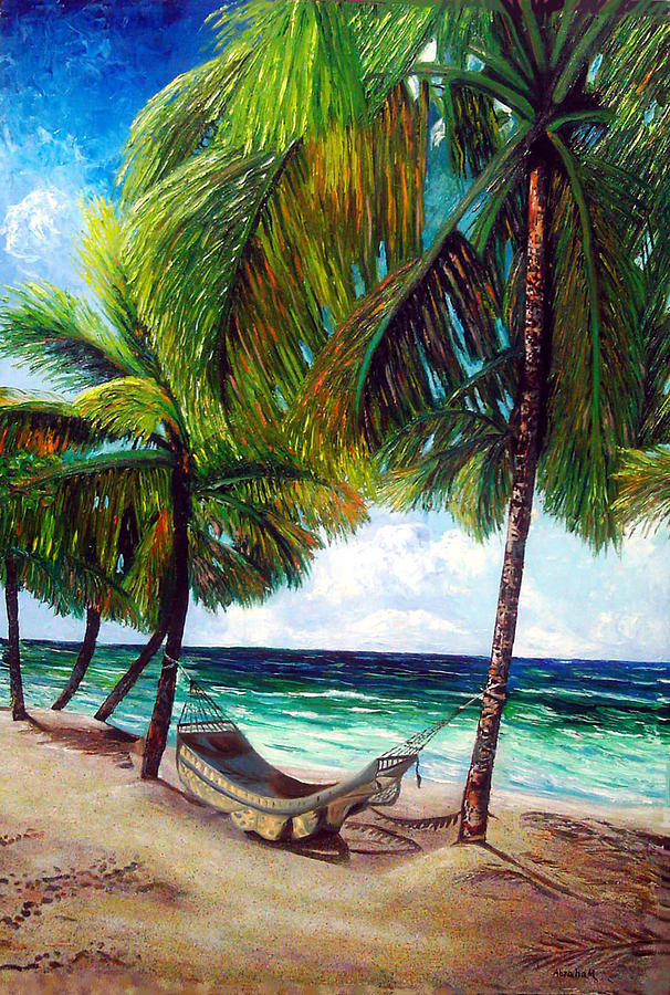 Beach Painting - On the beach by Jose Manuel Abraham