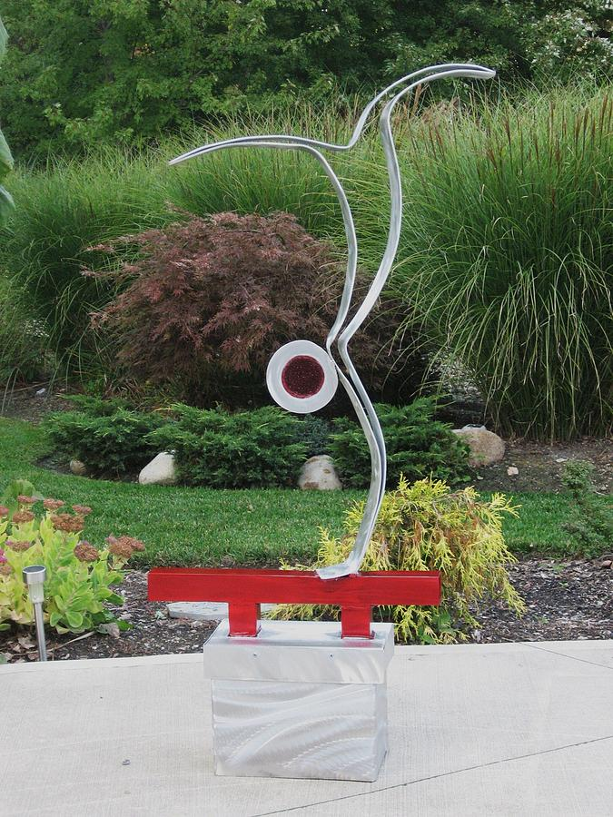Abstract Sculpture Sculpture - On The Beam by  Dawn Johnson