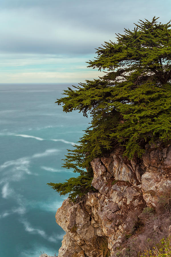 Landscape Photograph - On The Cliff - Vertical by Jonathan Nguyen