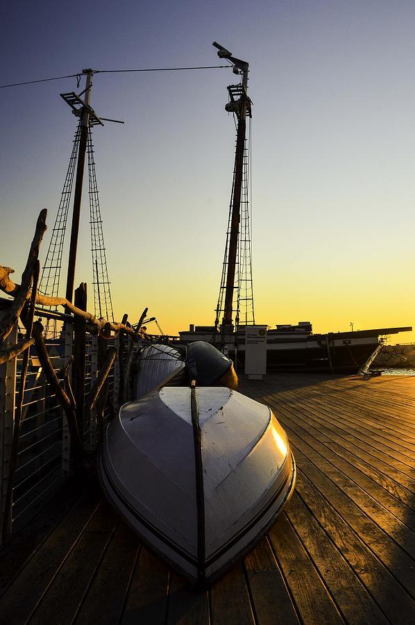 Schooner Photograph - On The Dock Of The Sullivan by William Hoffmann