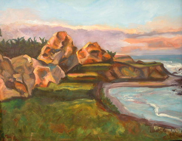 Montauk Painting - On The Edge by Glynis Berger