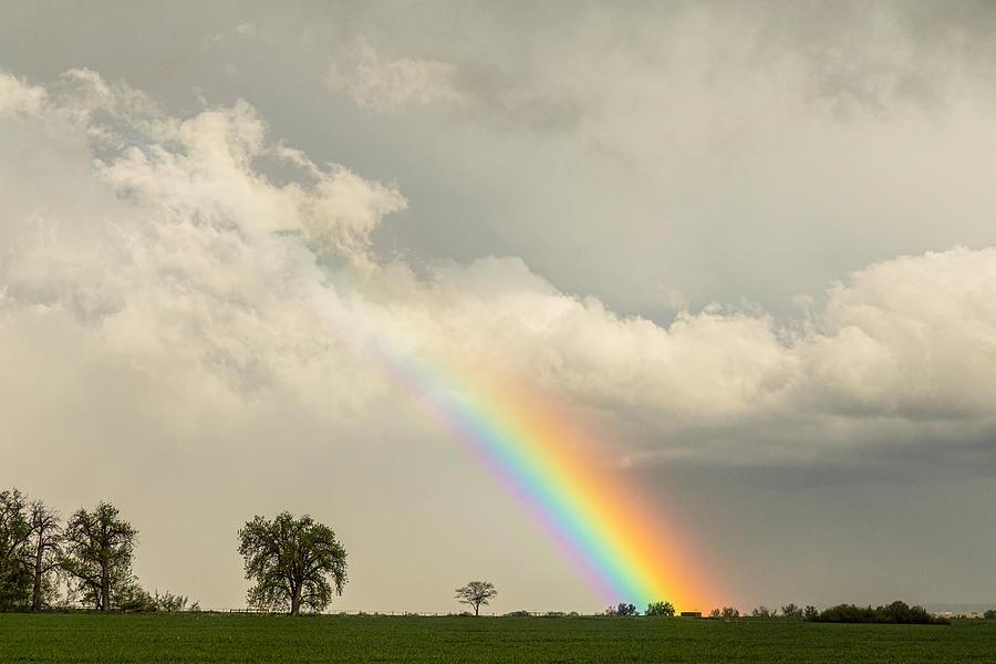 On The Edge Of A Rainbow Photograph