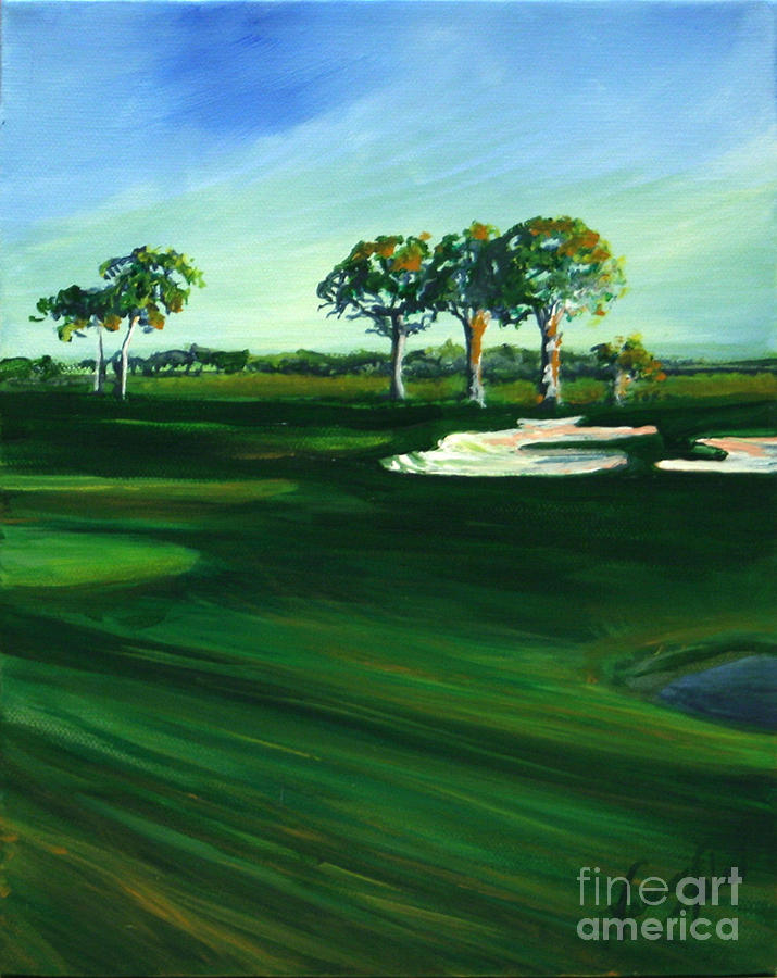 Fairway Painting - On The Fairway by Michele Hollister - for Nancy Asbell