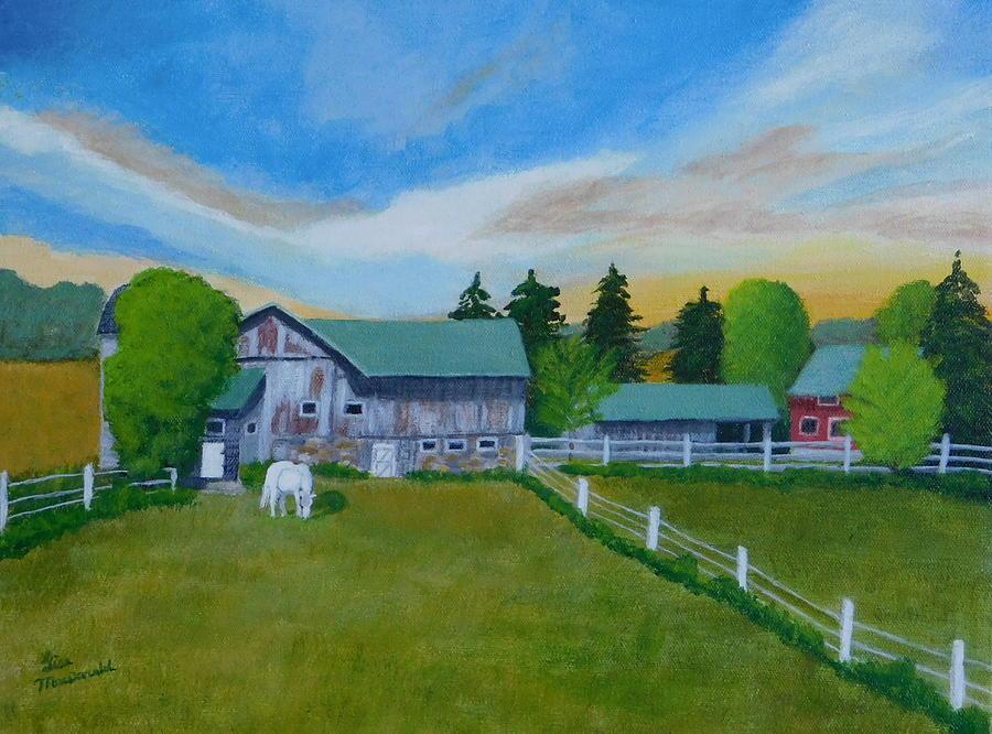 Acrylic Painting - On The Farm by Lisa MacDonald