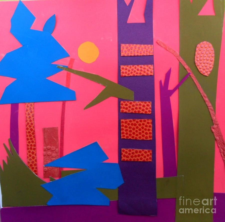 Landscape Mixed Media - On the Forest Floor by Debra Bretton Robinson