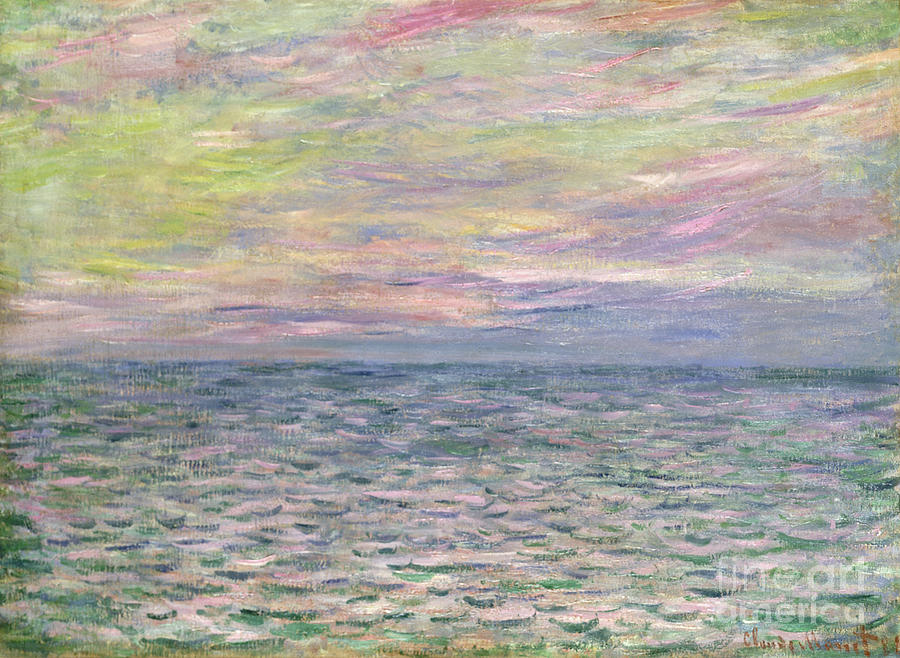 French Painting - On the High Seas by Claude Monet