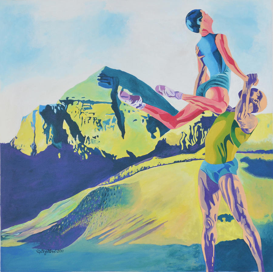 On The Hill Top Painting by Gayatri Artist