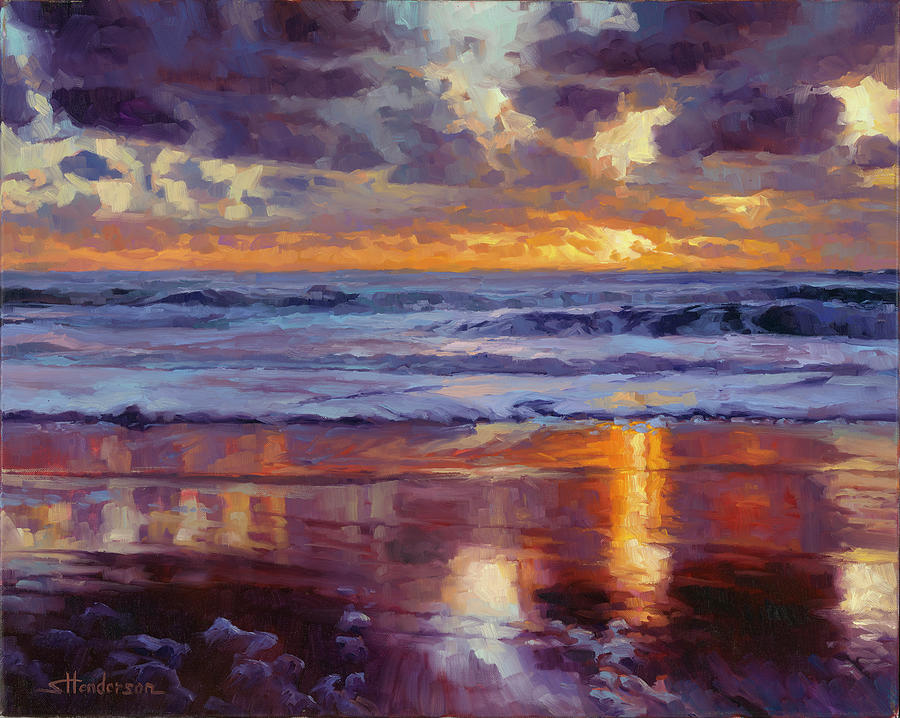 Ocean Painting - On the Horizon by Steve Henderson