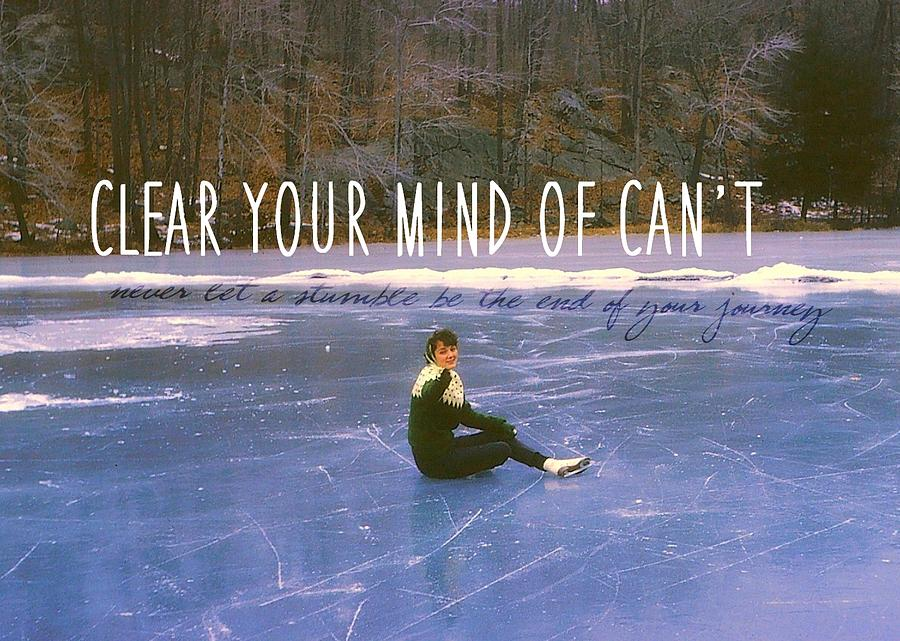 Vintage Photograph - On The Ice Quote by JAMART Photography
