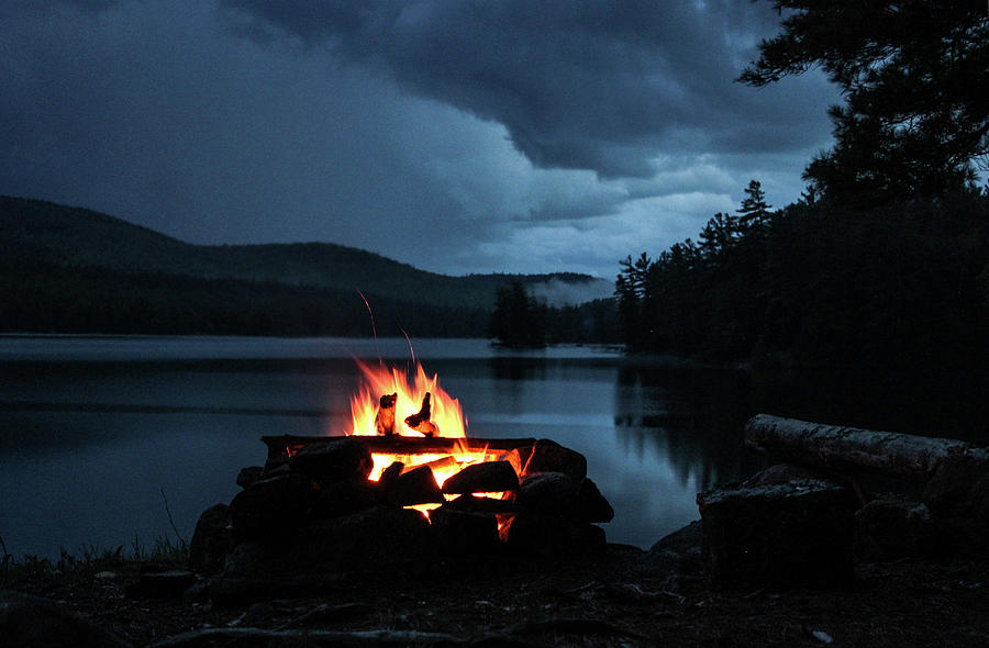 Campfire Photograph - On The Lake by Jessica Tabora