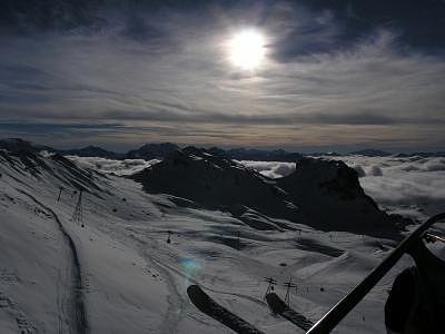 Ski Photograph - On The Lift by Vlad Bridan