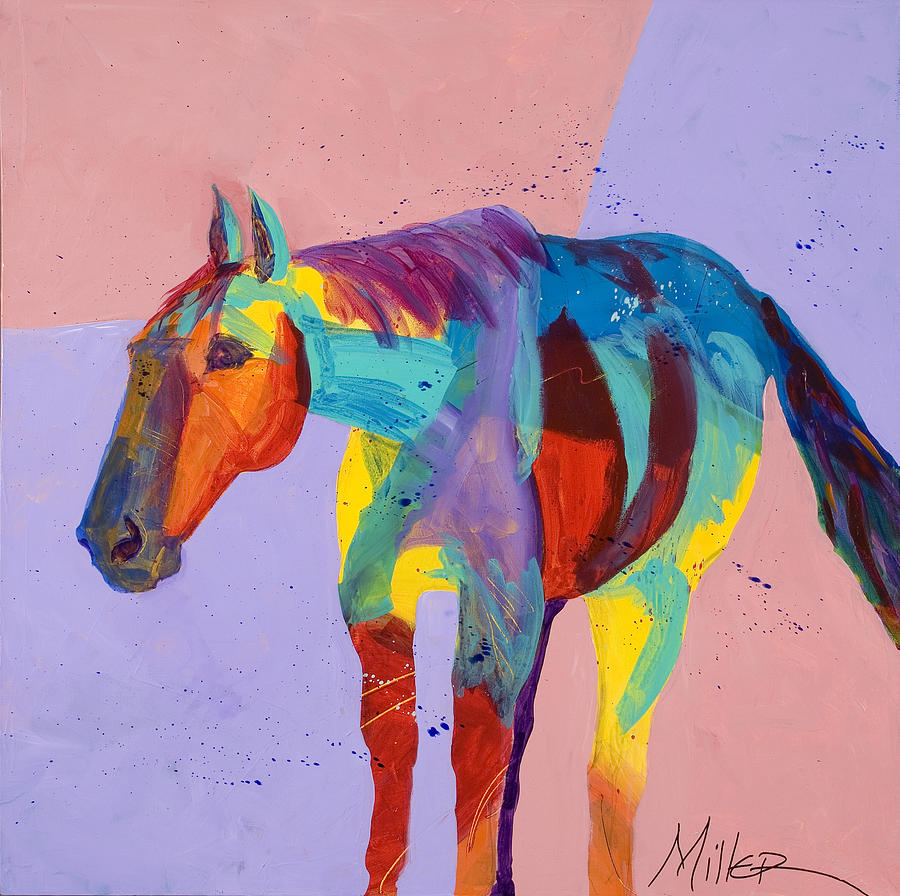 Horse Painting - On The Lonely Trail by Tracy Miller