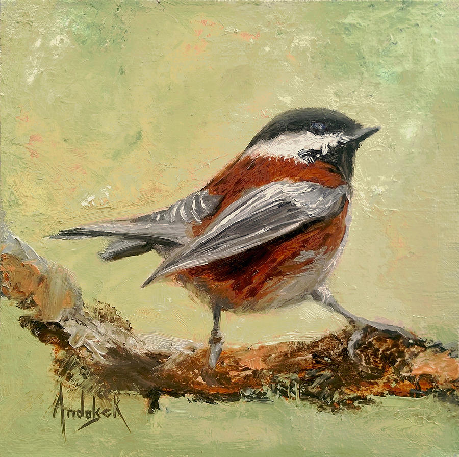 Bird Painting - On The Lookout by Barbara Andolsek