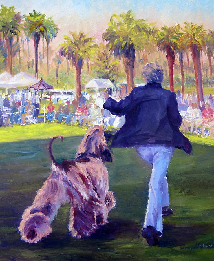 Afghan Hound Painting - On The Move by Terry  Chacon