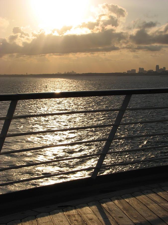 Sunrise Photograph - On The Ocean by April Camenisch