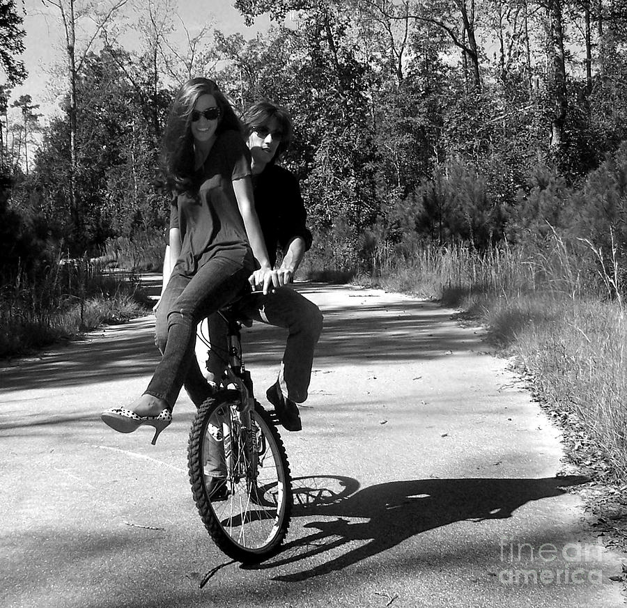 Bicycle Photograph - On The Open Road by Amanda  Sanford