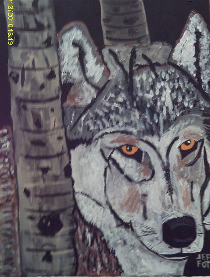 Paintings Of Wolf Painting - On The Prowl by Jeffrey Foti