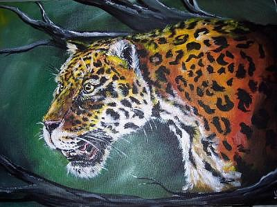 On The Prowl Painting by Merideth Van Every