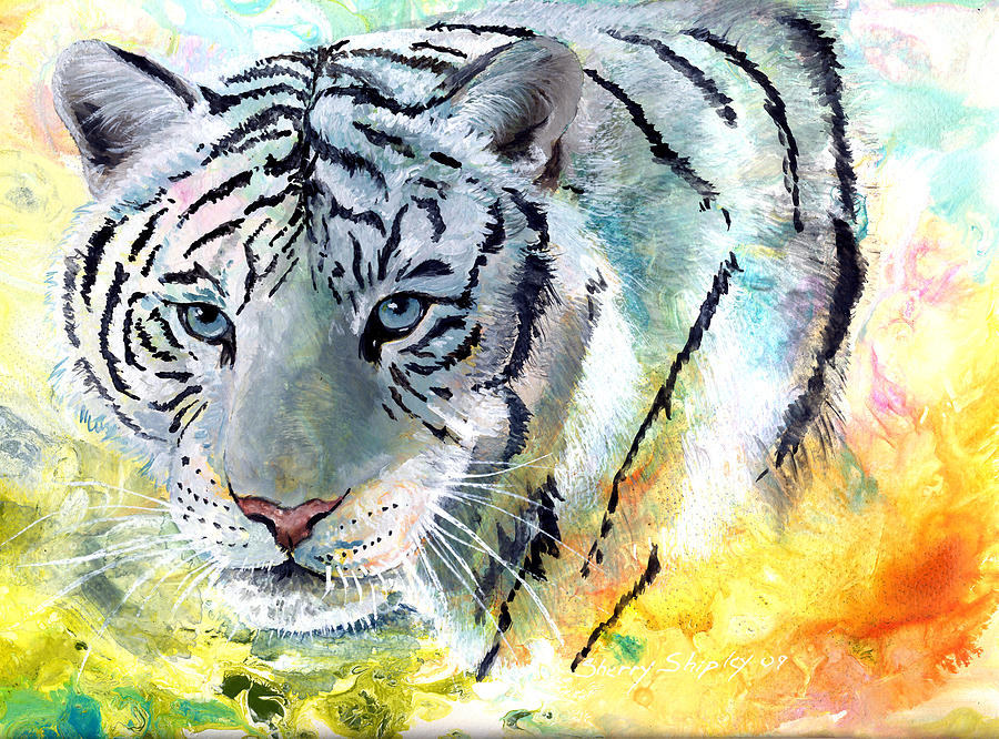 Tiger Painting - On The Prowl by Sherry Shipley