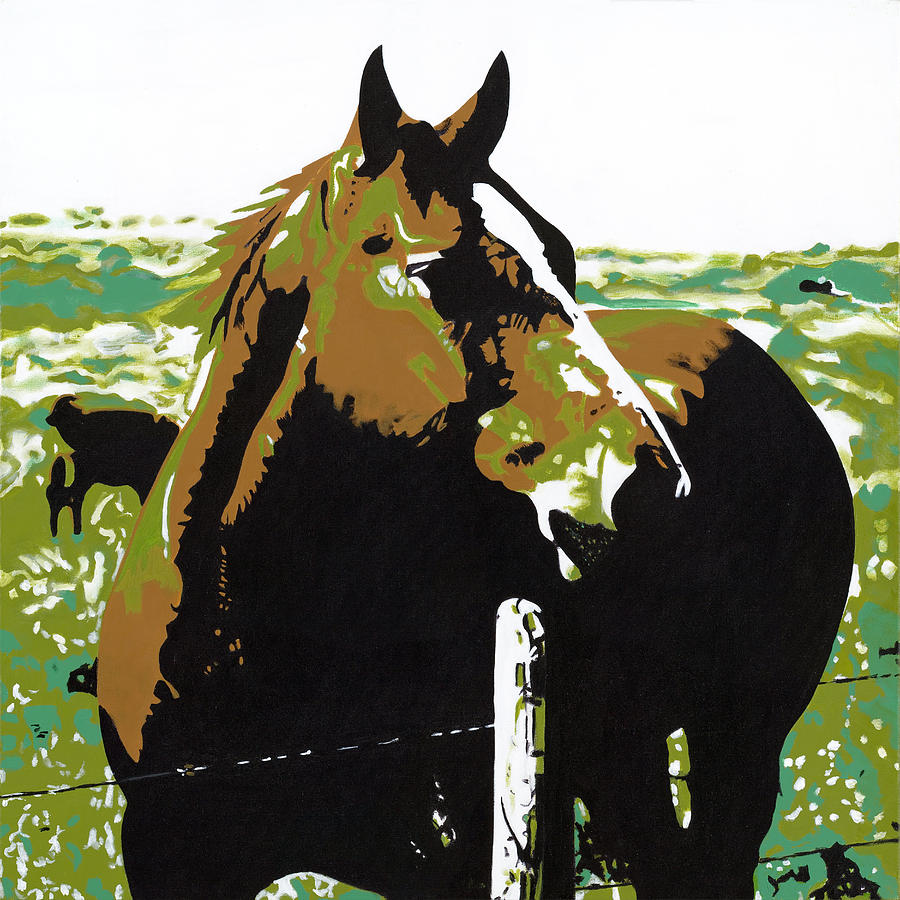 Bright Painting - On The Range - Brown by Sonja Olson