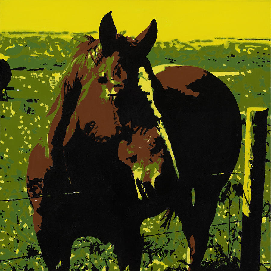 Bright Painting - On The Range - Red by Sonja Olson