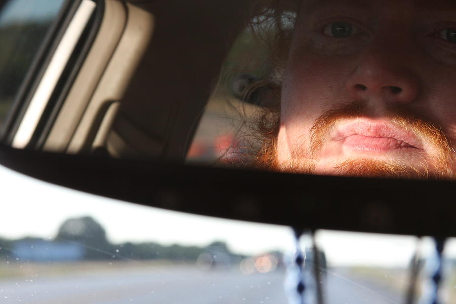 Rearview Mirror Photograph - On The Road Again by Jonathan Kotinek