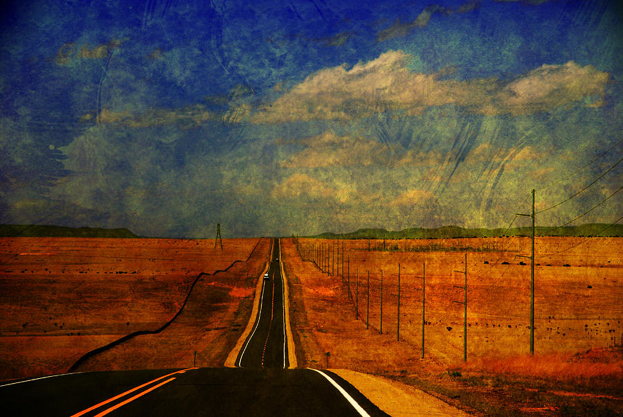 Long Road Photograph - On The Road Again by Susanne Van Hulst