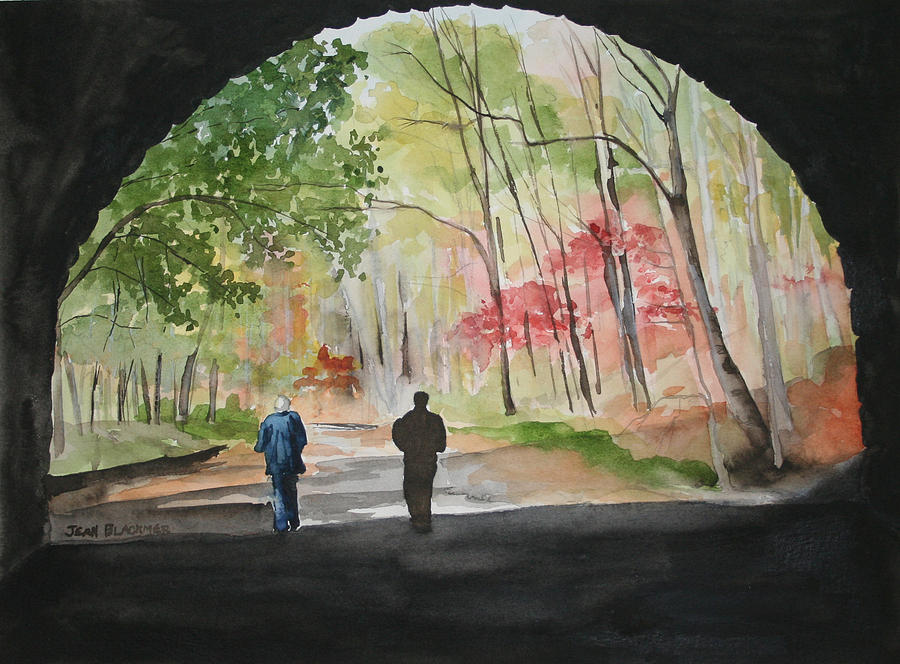 Road Painting - On The Road To Nowhere by Jean Blackmer