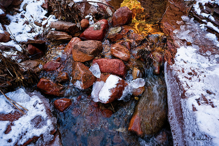 Stream Photograph - On The Rocks by Christopher Holmes