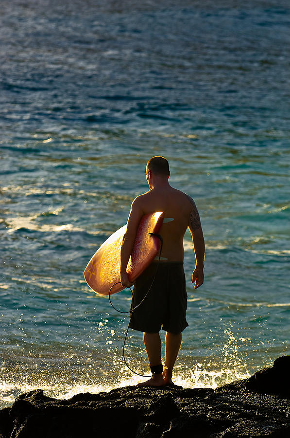 Surfer Photograph - On The Rocks by Marvin Rivera