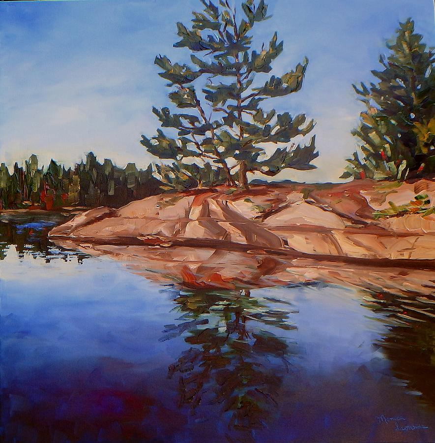 Oil On Canvas Painting - On The Rocks by Monica Ironside