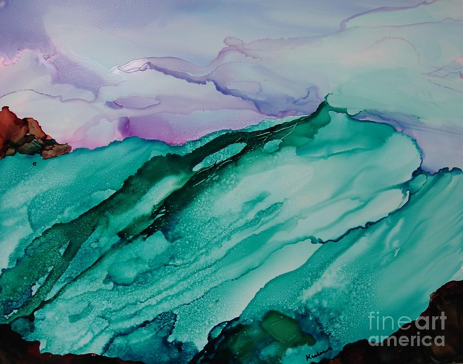 Ocean Painting - On The Rocks by Susan Kubes