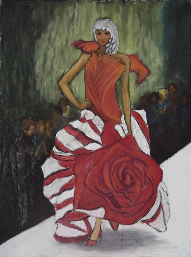 Fashion Show Painting - On The Runway by Annette Kagy
