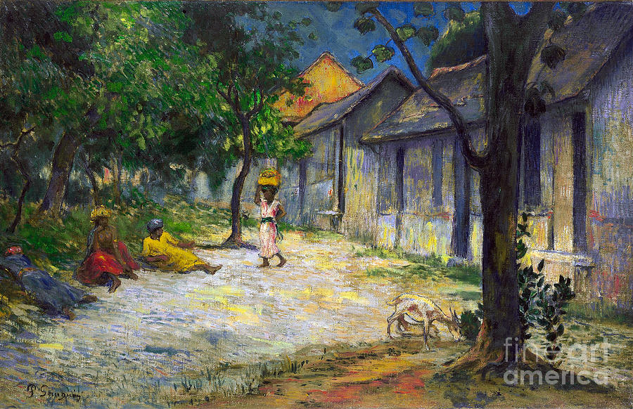 Paul Painting - Village In Martinique by Gauguin