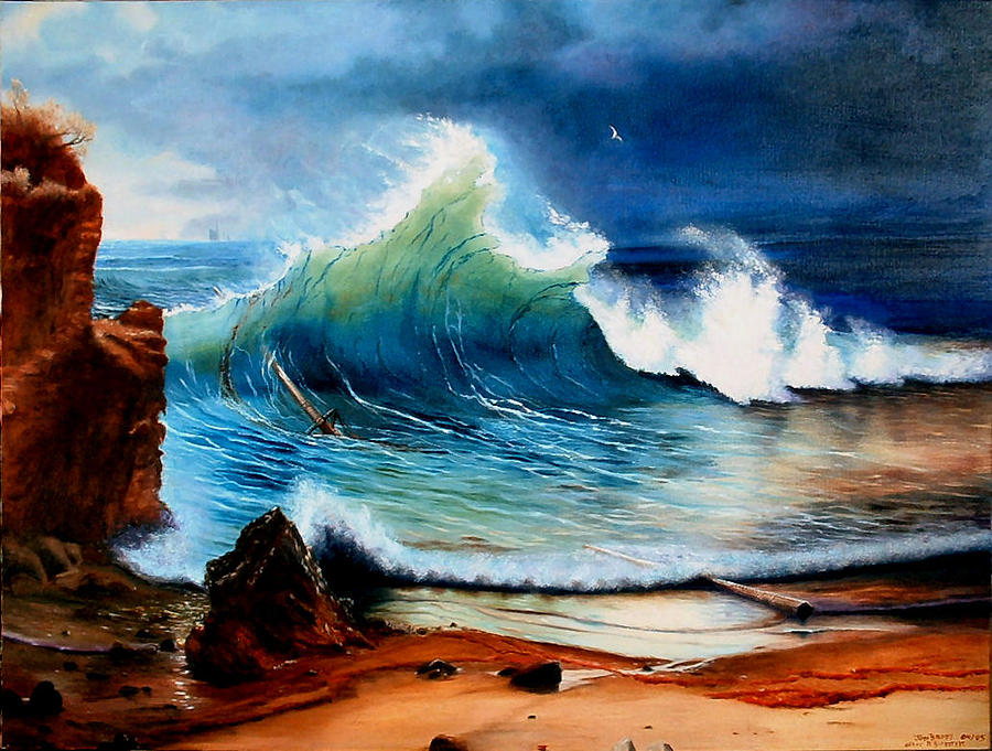 Seascape Painting - On The Shore Of The  Turquoise Sea by Jodi Brody