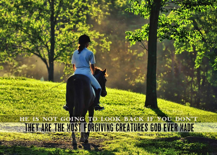 Horse Photograph - On The Showgrounds Quote by JAMART Photography