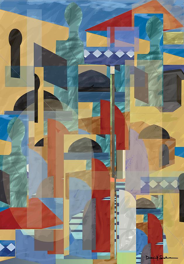 Abstract Digital Art - On The Street by Dan Sisken